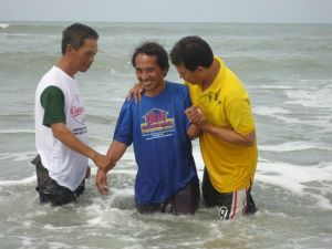 Brother Henry together with Pastor John Tuazon and Brother Ely Junio at  Bonuan, Dagupan City